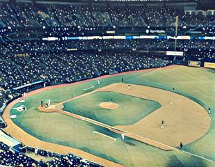Stylized Baseball Stadium