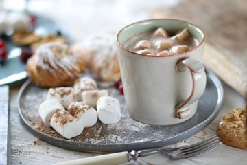 cocoa with marshmallows