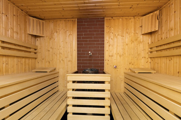Empty finnish sauna
