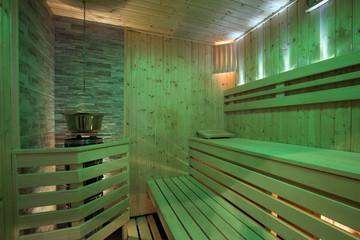 Empty bio sauna