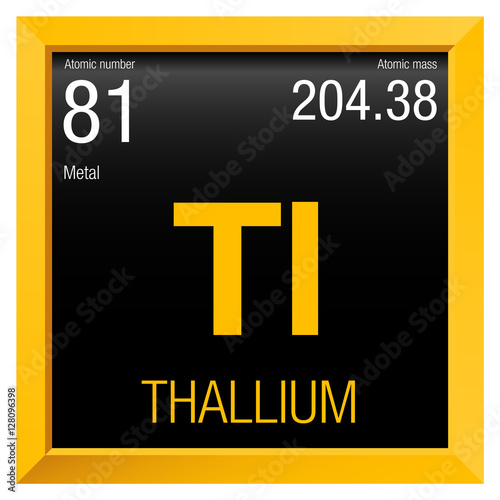 Thallium Symbol Element Number 81 Of The Periodic Table Of The