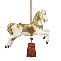 Cheval de bois d'u carrousel
