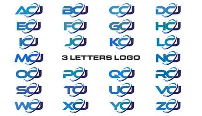 3 letters modern generic swoosh logo ACJ, BCJ, CCJ, DCJ, ECJ, FCJ, GCJ, HCJ, ICJ, JCJ, KCJ, LCJ, MCJ, NCJ, OCJ, PCJ, QCJ, RCJ, SCJ, TCJ, UCJ, VCJ, WCJ, XCJ, YCJ, ZCJ