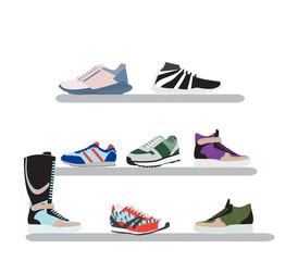 Set of men's sneakers