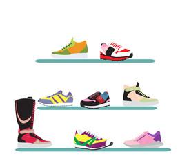 Set of girls' sneakers