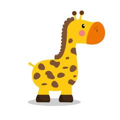 cute giraffe baby icon vector illustration design