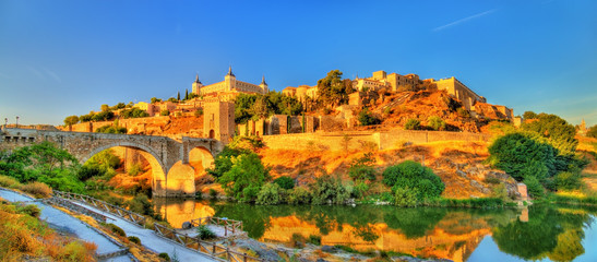 Panorama of Toledo with the Alcantara Bridge, Spain