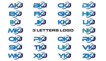 3 letters modern generic swoosh logo AKJ, BKJ, CKJ, DKJ, EKJ, FKJ, GKJ, HKJ, IKJ, JKJ, KKJ, LKJ, MKJ, NKJ, OKJ, PKJ, QKJ, RKJ, SKJ, TKJ, UKJ, VKJ, WKJ, XKJ, YKJ, ZKJ