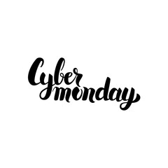 Cyber Monday Handwritten Calligraphy