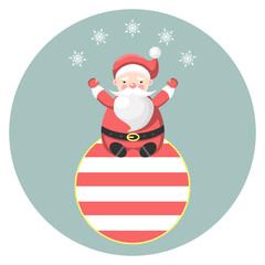 Santa Claus on Christmas ball