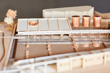 Scale model of a building project