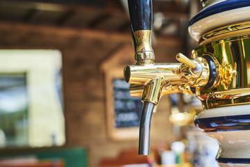 Beer dispenser in a pub restaurant