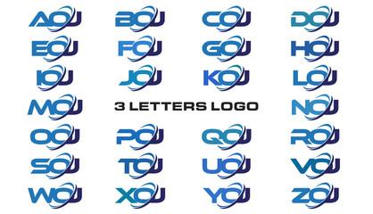 3 letters modern generic swoosh logo AOJ, BOJ, COJ, DOJ, EOJ, FOJ, GOJ, HOJ, IOJ, JOJ, KOJ, LOJ, MOJ, NOJ, OOJ, POJ, QOJ, ROJ, SOJ, TOJ, UOJ, VOJ, WOJ, XOJ, YOJ, ZOJ