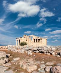 Fototapete - Erechtheion temple Acropolis, Athens, Greece