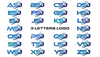 3 letters modern generic swoosh logo ASJ, BSJ, CSJ, DSJ, ESJ, FSJ, GSJ, HSJ, ISJ, JSJ, KSJ, LSJ, MSJ, NSJ, OSJ, PSJ, QSJ, RSJ, SSJ, TSJ, USJ, VSJ, WSJ, XSJ, YSJ, ZSJ