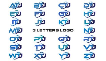 3 letters modern generic swoosh logo ATJ, BTJ, CTJ, DTJ, ETJ, FTJ, GTJ, HTJ, ITJ, JTJ, KTJ, LTJ, MTJ, NTJ, OTJ, PTJ, QTJ, RTJ, STJ, TTJ, UTJ, VTJ, WTJ, XTJ, YTJ, ZTJ