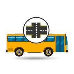 bus transport public cross road vector illustration eps 10