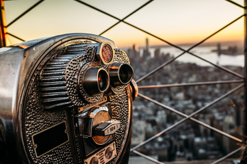 Binocular in the afternoon over New York City.