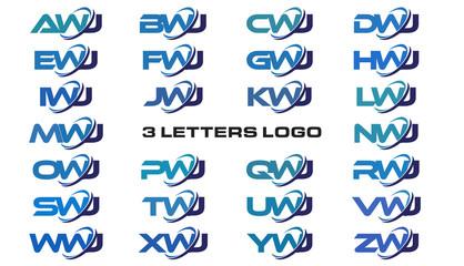 3 letters modern generic swoosh logo AWJ, BWJ, CWJ, DWJ, EWJ, FWJ, GWJ, HWJ, IWJ, JWJ, KWJ, LWJ, MWJ, NWJ, OWJ, PWJ, QWJ, RWJ, SWJ, TWJ, UWJ, VWJ, WWJ, XWJ, YWJ, ZWJ