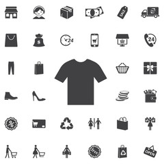 tshirt Vector icon on the whie background