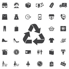 Recycle sign isolated icon on white background