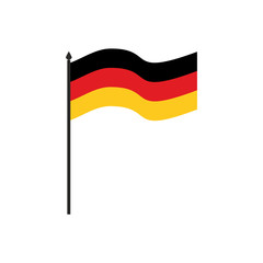 Germany flag cartoon style isolated on white background.