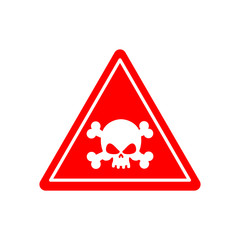 Danger Poison sign red. Attention toxic hazard. Warning sign aci