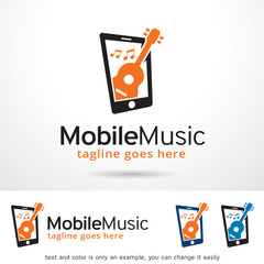 Mobile Music Logo Template Design Vector