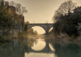Devil's bridge of Cividale del Friuli,  Italy