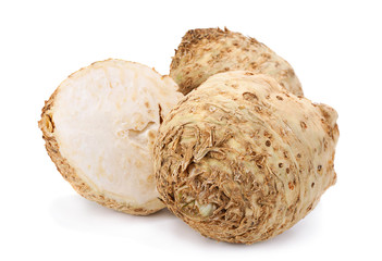 Celery root on white