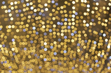 Christmas decoration background bokeh of lights glowing