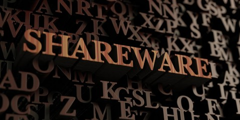 Shareware - Wooden 3D rendered letters/message.  Can be used for an online banner ad or a print postcard.