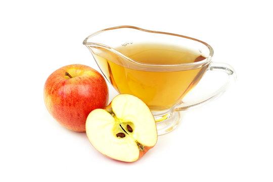 Apple vinegar closeup