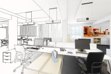 Büroeinrichtung (Zeichnung)