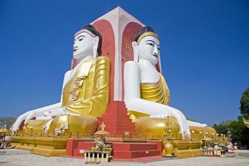 Four Seated Buddha shrine at Kyaikpun Pagoda in Bago, Burma