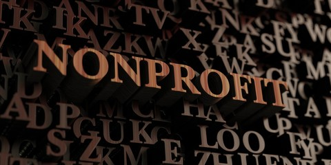 Nonprofit - Wooden 3D rendered letters/message.  Can be used for an online banner ad or a print postcard.