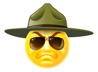 Emoji Emoticon Drill Sergeant