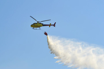 Suppression of the fires by means of the helicopter.