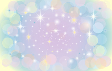 vector background with circles and stars