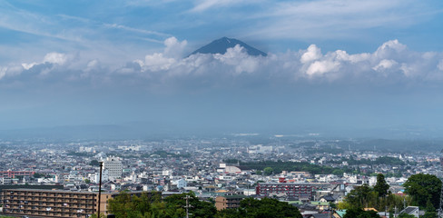 Mt.Fuji over Fujinomiya, Shizuoka, Japan