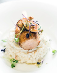 risotto with duck and mushrooms