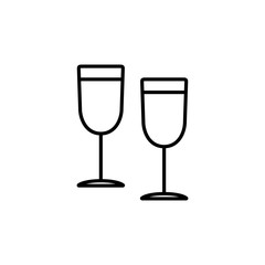 alcohol drink, champagne, couple of glasses, two, glass  line ve