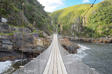 Bridge and landscape of Tsitsikamma national park, Garden route, South Africa