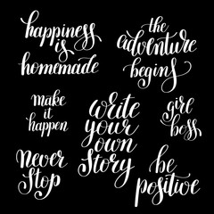 write your own story handwritten positive inspirational quote