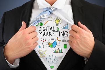 Businessperson Showing Digital Marketing Concept