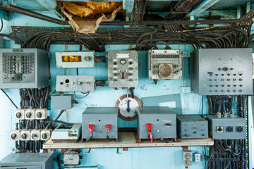 Old electronic equipment use in the old ship.