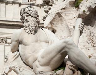Fontana dei Quattro Fiumi (Fountain of the Four Rivers), Piazza Navona, Rome, Italy