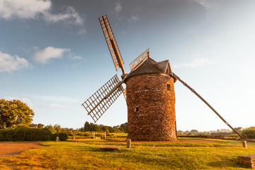 Photo sur Toile Moulins Dol de Bretagne windmill Brittany France
