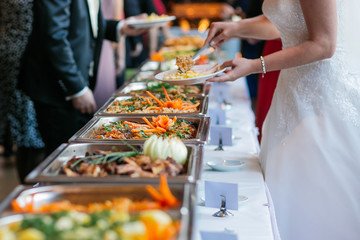 Photo sur Aluminium Buffet, Bar essen hochzeit buffet catering