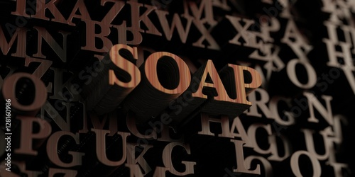 Soap - Wooden 3D rendered letters/message  Can be used for